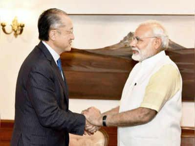 विश्व बैंक प्रमुख के साथ पीएम मोदी