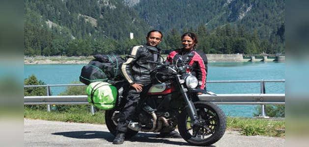 शादी की सालगिरह मनाने के लिए इस कपल ने चलाई 18 हजार किलोमीटर बाइक