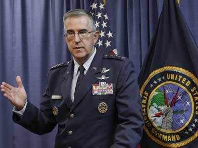 अमेरिकी स्ट्रैटिजिक कमांड के कमांडर जॉन हिटन (फाइल फोटो)