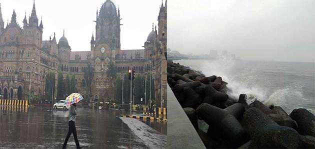 'ओखी'ने अब मुंबई में दी दस्तक, जमकर हुई बारिश