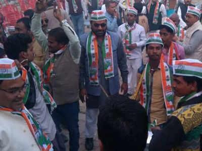 राहुल की ताजपोशी के बाद अमेठी में कार्यकर्ताओं ने ऐसे मनाया जश्न