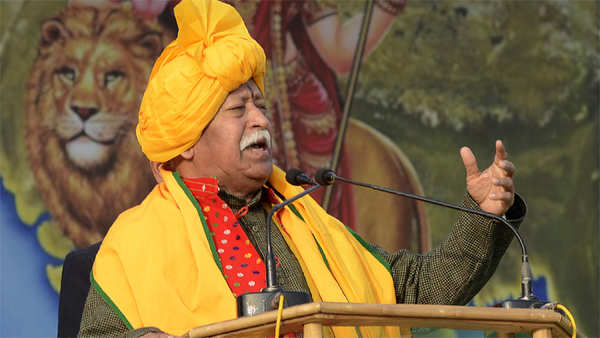 mohan bhagwat stirs controversy says anybody living in india is hindu