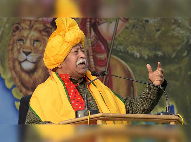 मोहन भागवत ने दिया विवादित बयान, कहा-भारत में रहने वाले सभी हिंदू