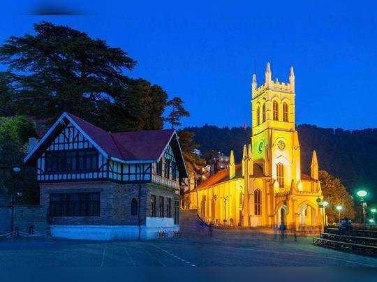 शिमला का प्रसिद्ध क्राइस्ट चर्च