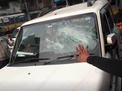 TMC हमले में क्षतिग्रस्त गाड़ी