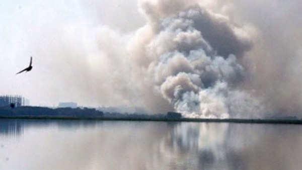 5000 army men doused fire in bellandur lake