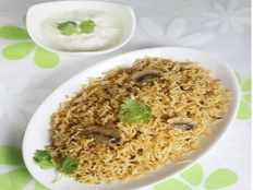 mushroom briyani recipe
