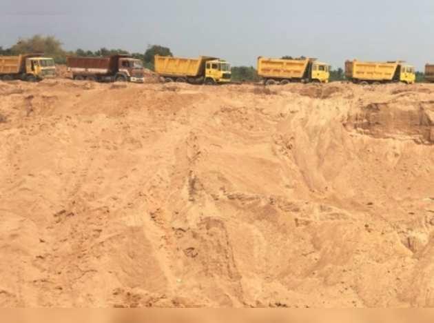 sand quarries