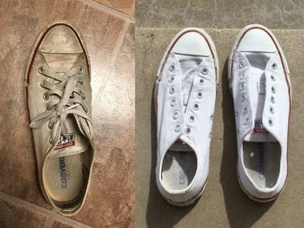 hacks how to make your white shoes shine bright
