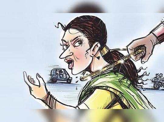 பழனி அருகே பட்டப்பகலில் பெண்ணிடம் நகைப்பறிப்பு!