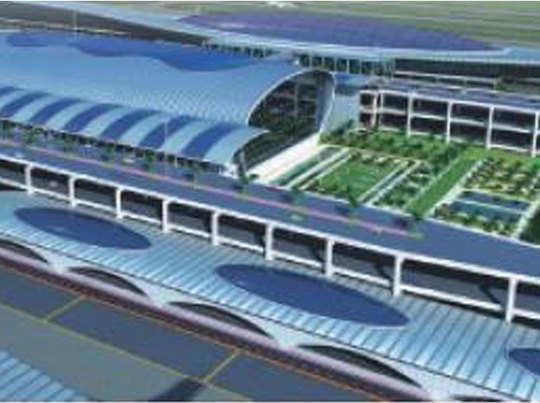 नवी मुंबई एयरपोर्ट का मॉडल
