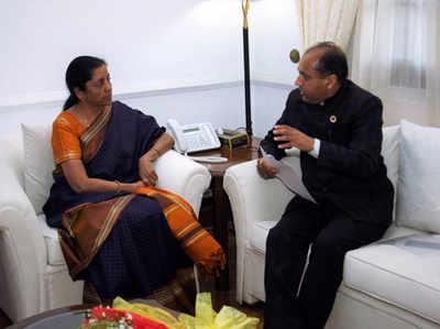 रक्षामंत्री से मुलाकात के दौरान सीएम जयराम ठाकुर