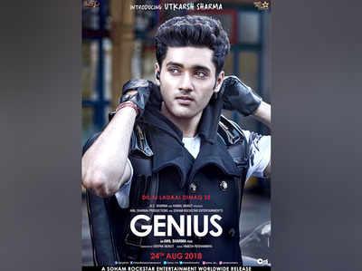 जीनियस के पोस्टर में उत्कर्ष शर्मा