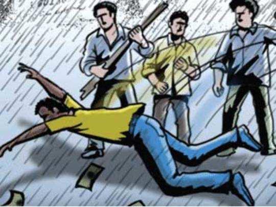 फुगा फेकून मारला; तरुणावर केले ५० वार