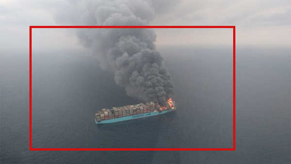 cargo ship fire four crew members still missing rescue operations underway