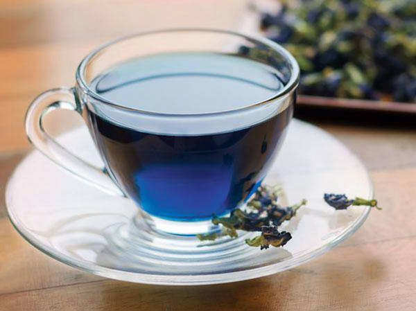 drinking blue tea is more beneficial than green tea