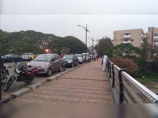 वि.रा. शिंदे पूल की कार पार्किंग?