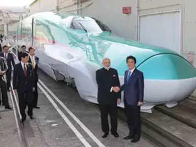 जापान की मदद से चलेगी पहली बुलेट ट्रेन।
