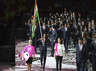 pv sindhu leads indian contingent in cwg 2018 opening ceremony