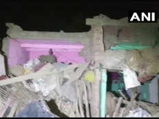 two houses collapse after explosion two children die in bulandshahr