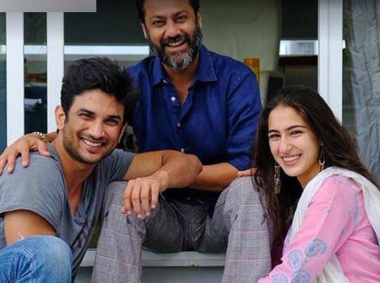 डायरेक्टर अभिषेक कपूर के साथ सुशांत और सारा