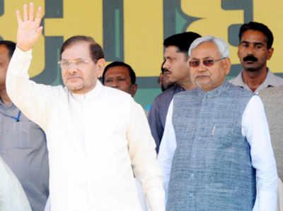शरद यादव के साथ नीतीश कुमार