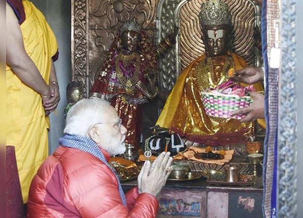मुक्तिधाम मंदिर में पीएम मोदी की पूजा-अर्चना