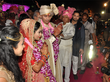 chaos chaos at tej prataps wedding unruly crowd loots food items crockery