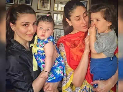सोहा अली खान, इनाया, करीना कपूर खान और तैमूर