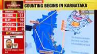 കര്ണാടക: ബിജെപി, കോണ്ഗ്രസ് മുന്നില്