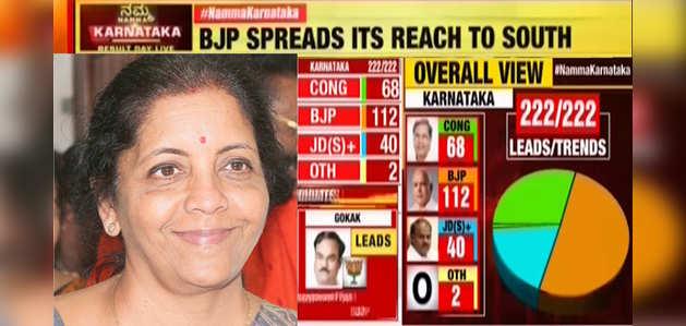 कर्नाटक चुनाव परिणाम: निर्मला सीतारमण ने बीजेपी की जीत का श्रेय पीएम मोदी को दिया