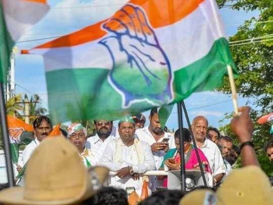 Chamundeshwari: Karnataka Chief Minister Siddaramaiah during a roadshow ahead of...