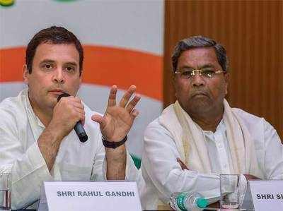 सिद्धारमैया के साथ राहुल गांधी।