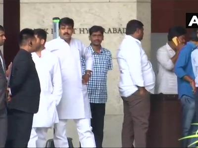 हैदराबाद के हयात होटल में विधायकों के रुकने की व्यवस्था।