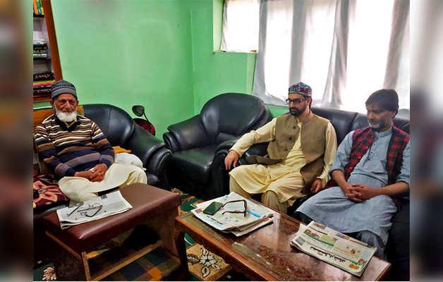 सैयद अली शाह गिलानी, मीरवाइज और यासिन मलिक (फाइल फोटो)