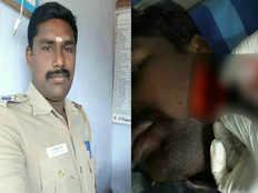 coimbatore si aarumuga nainar attacked and chopped by robbers at palani