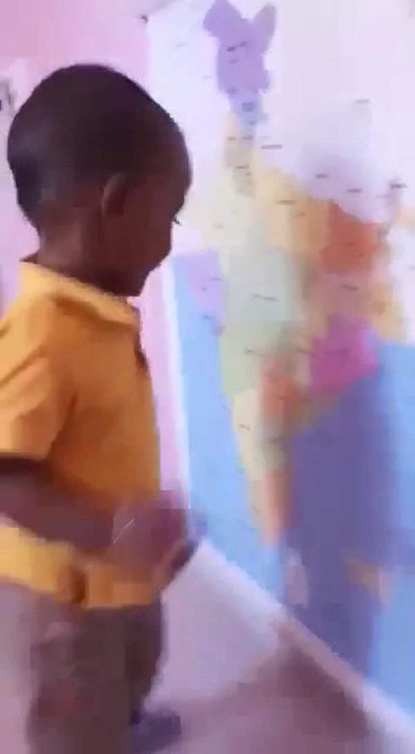 20 month old from kolar amrith krishna can recognise all the states in the map of india
