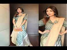 shilpa shetty 46th birthday saree style take tips from shilpa shetty for wearing saree in style