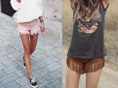 these fringe denim shorts are perfect for beach holiday