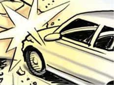 baghpat car bike accident one man death