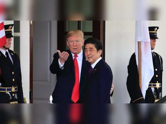 Trump with Shinzo Abe