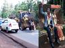 karnataka man takes his bride to a ride on jcb