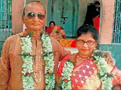 65 के प्रशांत ने 45 की बबली से की शादी।