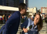 man tries to kiss brazilian journo at world cup she bashes him till he apologises on live tv