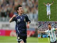 messi first player to score world cup goal as teenager in his 20s and in his 30s
