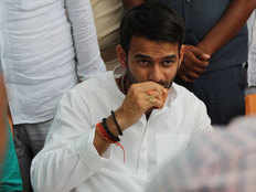 chacha nitish kumar will not get entry in our house says rjd leader tej pratap yadav