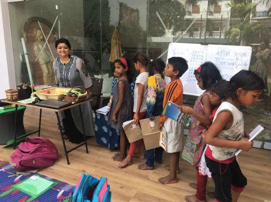 बच्चों की क्लास में सीमा