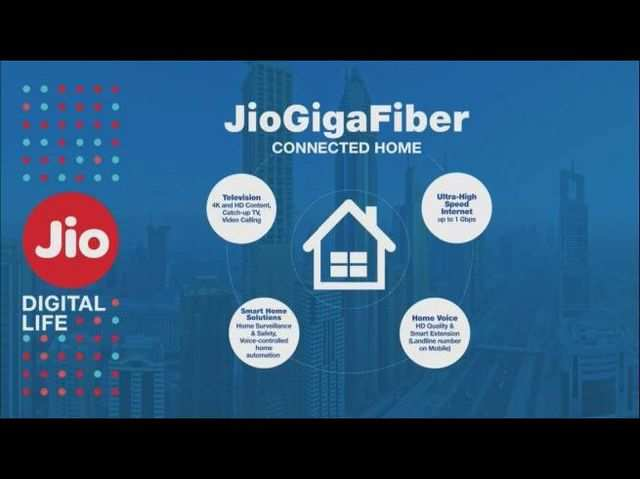 Jio ने लॉन्च की हाइ स्पीड ब्रॉडबैंड सर्विस 'Jio GigaFiber'
