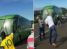 angry brazilians fans attack the brazil football team bus and neymar