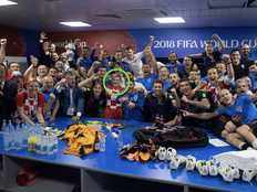 kolinda grabar kitarovic celebrates with team in dressing room after win in world cup